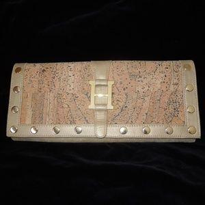 Hammitt Cork Leather Clutch Purse Bag